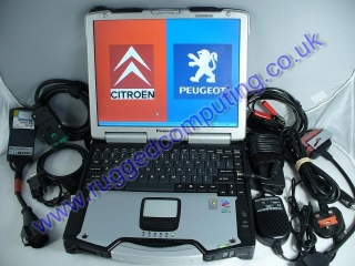 CITROEN / PEUGEOT DIAGNOSTICS + PANASONIC TOUGHBOOK CF-29