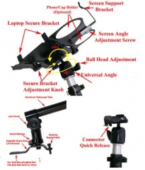 Vehicle Laptop Mount for all Cars, Vans & 4X4 Vehicles
